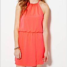 American Eagle Neon Pink Dress