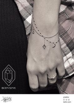 bracelet tattoo - simple yet elegant