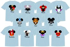 ~:~> PLEASE READ ALL LISTING DETAILS BEFORE ORDERING. <~:~>  Going to the most magical place on Earth soon? One of the fun things you will see around the parks are groups wearing matching shirts. Whether the purpose is for pictures, keeping your group together in the crowd or just for the fun of it; we are sure you will turn heads and have people asking where you got your shirts because they are so darn stinking cute!  At The Mouse Boutique we have lots of shirts to choose from, check the…