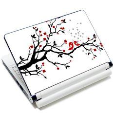 5 15.6 Inch Laptop Notebook Skin Sticker Cover Art Decoration Tree Red Birds