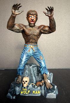 The Wolfman (Aurora) Plastic Model Kits, Plastic Models, Retro Toys, Vintage Toys, Horror Merch, Beast Creature, Famous Monsters, Classic Monsters, Vintage Horror