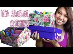 DIY: Shoebox Organizer - YouTube