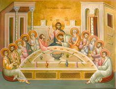 Religious Paintings, Byzantine Icons, Last Supper, Orthodox Icons, Ikon, Jesus Christ, Christianity, Religion, Scene