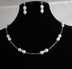 FRESH WATER PEARL NECKLACE SET Listing  by Ptcreationsjewelry, $35.00
