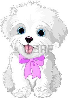 clipart of a cute bichon frise or maltese puppy dog resting royalty rh pinterest com maltese clipart maltese clipart png