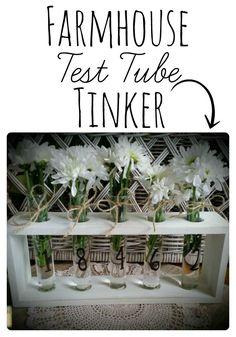 Make your own DIY Farmhouse Test Tube Vase | http://www.raggedy-bits.com