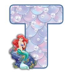 Alphabet, Disney Scrapbook, Letters And Numbers, The Little Mermaid, Ariel, 2nd Birthday, Minnie Mouse, Disney Characters, Fictional Characters