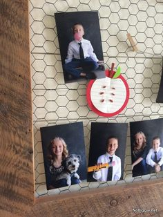 Back to School Photo Display! Such a fun idea! | NoBiggie.net