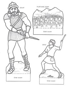 David and Goliath printables