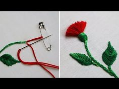 Hand embroidery hack to make tassels using safety pin tassel flower Machine Embroidery Thread, Hand Embroidery Projects, Hand Embroidery Videos, Embroidery Stitches Tutorial, Hand Embroidery Flowers, Embroidery For Beginners, Hand Embroidery Patterns, Creative Embroidery, Embroidery Techniques