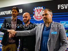 Sportdirektor Roland Benschneider (links), Roland Vrabec (mitte), Geschäftsführer Clemens Krüger (rechts). Fsv Frankfurt, Sport, Fictional Characters, Deporte, Sports, Fantasy Characters