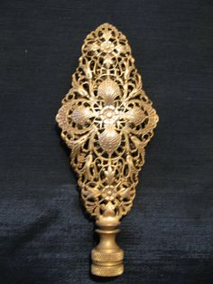 Finials For Lamps Glamorous Antique Czech Amber Amethyst Glass Lamp Finial Filigree Brass