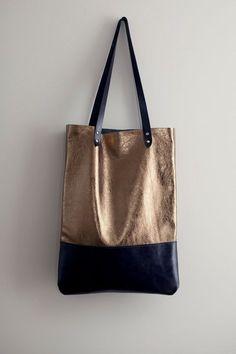 Tasche, schwarz, Kupfer