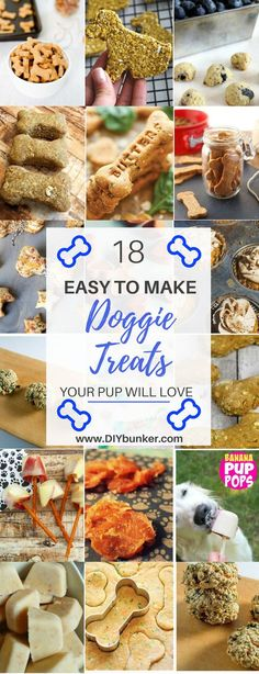 18 DIY Dog Treat Recipes That Your Pooch Will Love You For : These 18 DIY Dog Treat Recipes Are So Easy To Make And Your Fur Baby Will Be Drooling! pets dogs petfood dogtreats dogtreatrecipes diy lovemydog doginfographic Treat Recipes That Dog Biscuit Recipes, Dog Treat Recipes, Dog Food Recipes, Home Made Dog Treats Recipe, Homemade Dog Cookies, Homemade Dog Food, Cookies For Dogs, Diy Dog Treats, Healthy Dog Treats