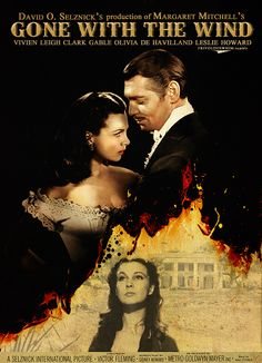 "Gone with the Wind - Victor Fleming 1939 - DVD04672 -- ""Adapted from Margaret Mitchell's novel. Focuses on the life and loves of the beautiful and selfish Scarlett O'Hara. The story begins on the O'Haras' Georgia plantation of Tara in antebellum days and moves through the Civil War and Reconstruction."""