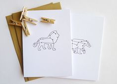 Letterpress Constellation Note Cards by BearsEatBerries