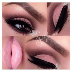 15 Beautiful Pink Eye Makeup Looks for 2014 ❤ liked on Polyvore featuring beauty products, makeup and eye makeup