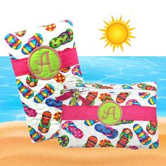 Personalized Travel Accessories Summer Flip by SEWsationalStitches