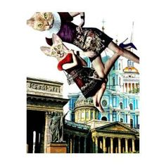 Fashion Illustration Above The City. Collage Poster by Irina Bast City Collage, Gustav Klimt, All Poster, Great Photos, Installation Art, Cool Bands, Great Artists, Fine Art America, Giclee Print