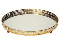 Display pretty perfume bottles on this mirrored tray for $50 #hgtvmagazine http://www.hgtv.com/decorating-basics/the-highlow-list-for-every-room/pictures/page-6.html?soc=pinterest#