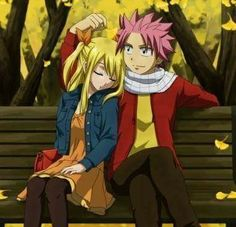 Fairy Tail Natsu et Lucy Fairy Tail Nalu, Fairy Tail Ships, Fairy Tail Natsu And Lucy, Fairytail, Gruvia, Gajevy, Fairy Tail Family, Fairy Tail Couples, Neko