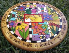 Lazy Susan - Laughs in Flowers. $150.00, via Etsy.