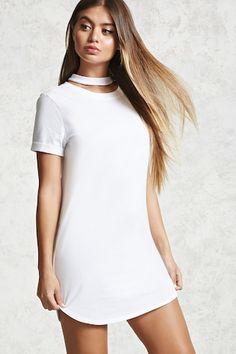 Choker T-Shirt Dress