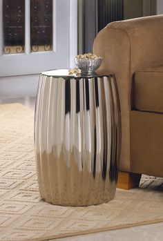 Smart Living Contemporary, Living Room Ceramic Silver Decorative Stool #SmartLiving #Contemporary