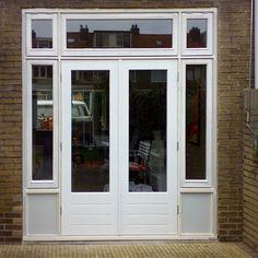 Garage Makeover, Back Doors, Art Deco Design, Patio Doors, New Homes, Sweet Home, Windows, Building, Projects
