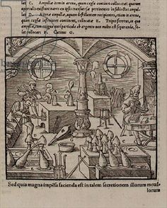 Glass making, from a Book of Trades, 1542