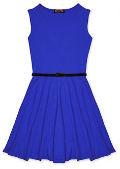 Amazon.com: Girls Skater Dress Kids Party Dresses Belted New Age 7 8 9 10 11 12 13 Years: Clothing