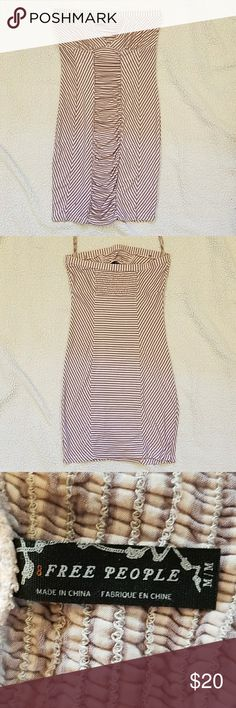 Free People sailor stripe strapless dress This dress is in perfect used condition. There are no tears, stains or pilling. Last picture is strictly for inspiration actual address is white and lavender. Free People Dresses Mini