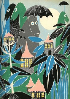 "Illustration from ""Who Will Comfort Toffle?"" by Tove Jansson, 1960"