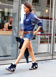 Summer Denim • Street style inspiration from Tommy Ton