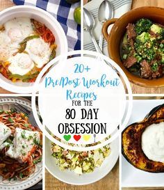 Looking for Pre and Post Workout Recipes for the 80 Day Obsession...that aren't boring? Look no further! Here's a list of over 20 recipes to get you started!