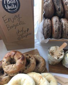 Freshest bagels from chef Scott At female entrepreneurs day !