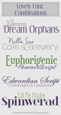 Favorite-Font-Combos-Spring |  pair fonts - Typeset pairing, font families