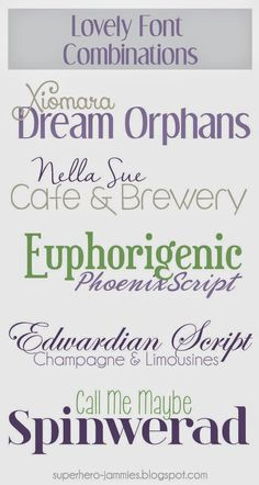 Superheroes in Jammies: 5 Lovely Font Combinations for Spring