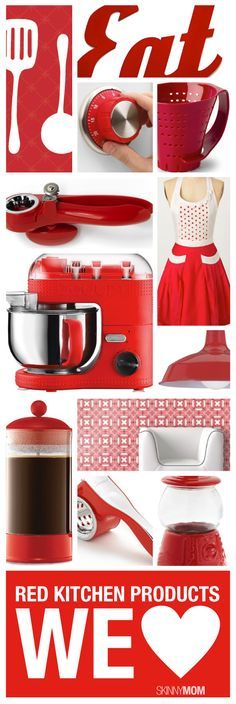 kitchen accents and accessories | red kitchen decor ideas - home