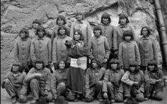 The 19 old oraibi Hopi men whom refused to send their children to boarding school. All were imprisoned, and sent to Alcatraz where they spent several years and being horribly mistreated and punished. All because they valued their hopi way of life.... Forcibly taken from oraibi in September, 1895