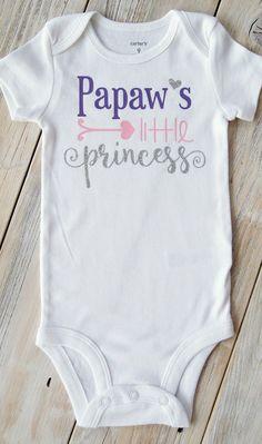 b87b0b8ea Papa's Little Princess-Baby Girl bodysuit-Baby Clothes-Custom bodysuit-Funny  Baby bodysuit-PaPa-Grandpa-PawPaw-Grandparents