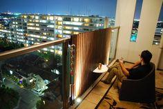 東邦レオ株式会社 の  マンションバルコニーにおける装飾事例(夜を楽しむ)