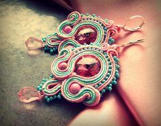 Náušnice - Pink & Mint - na želanie :) - 3430246