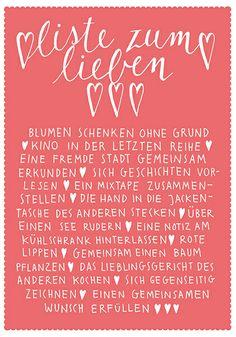 ♥♥♥ Postkarte Larifari Liste zum Lieben ♥♥♥ von LarifariLaden auf DaWanda.com