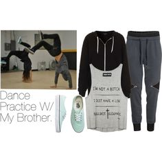 """""""Dance Practice W/ My Brother."""" by malikabigail on Polyvore"""