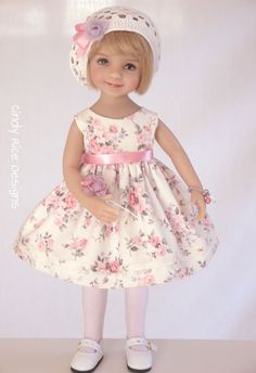 """""""Rosies and Lavender"""" a hand made ensemble for Dianna Effner's Little Darling dolls, cindyricedesigns.com"""