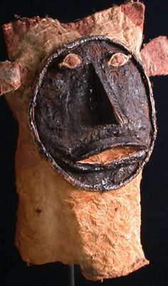 Yurupari Mask.Ticuna people, Western Amazon, Brazil. Reeds, wood, & bark cloth. For over 400 years, the Ticuna (Tukuna) tribes have survived in the Brazilian Amazon forest near the borders of Peru and Columbia. During the last 50 years they have been under constant threat of violent extermination and forced integration. One of the last large populated groups left in Brazil, the Ticuna are known for their sensitive artistry in basketry, wood and stone sculpture, and mask making.