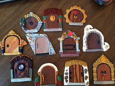 fairy doors | Flickr - Photo Sharing!.  Laura M./Zoeowyn's photostream at Flickr. Fairy doors in clay/Fimo/sculpy. I am charmed.