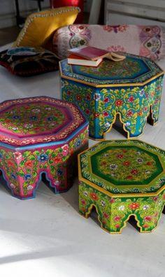Hexagonal Nesting Tables.