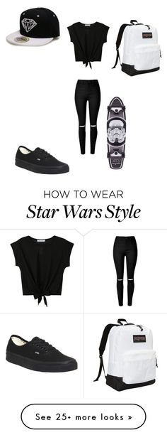 """Untitled #147"" by kevin-carrot on Polyvore featuring Vans, JanSport, women's clothing, women, female, woman, misses and juniors"